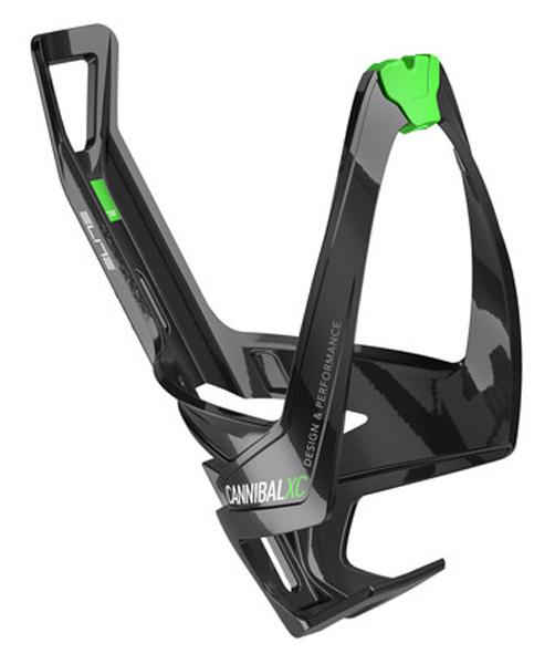 Košík ELITE Cannibal XC černá, zelené logo