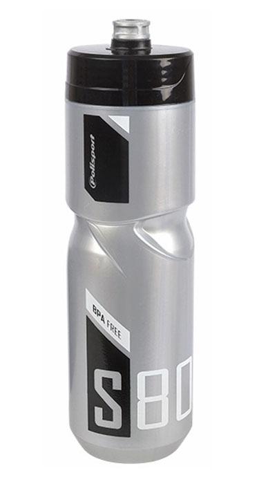 Láhev POLISPORT S800 0,8l stříbrná-černá-bílá