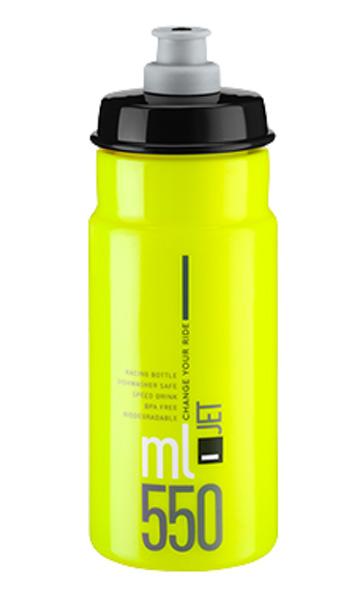 Láhev ELITE Jet 0,55l žlutá fluor, černé logo