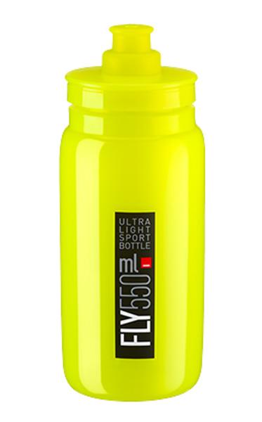 Láhev ELITE Fly 0,55l žlutá fluor, černé logo