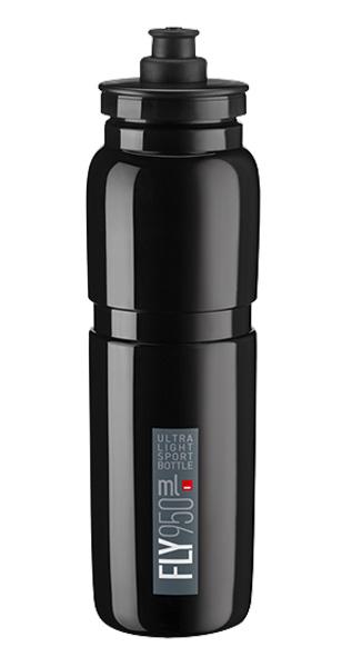 Láhev ELITE Fly 0,95l černá, šedé logo