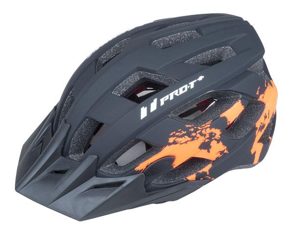 Přilba PRO-T Plus Soria In mold L 58-61 černo-oranžová neon matná