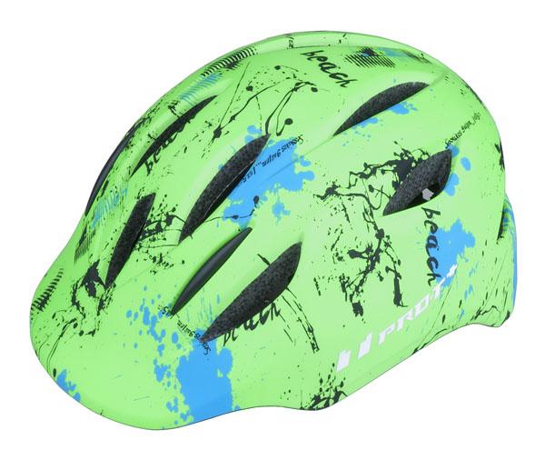 Přilba PRO-T Plus Avila In mold dětská M 52-56 zelená neon matná