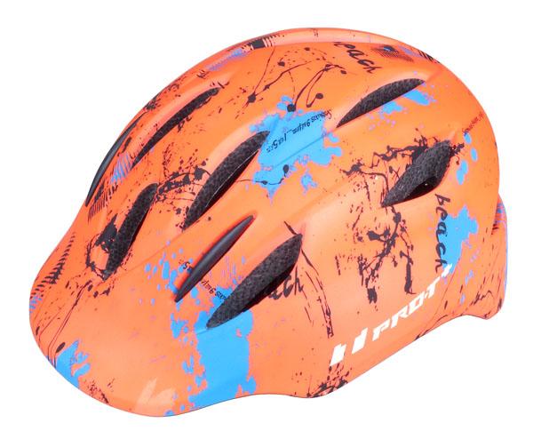 Přilba PRO-T Plus Avila In mold dětská M 52-56 oranžová neon matná