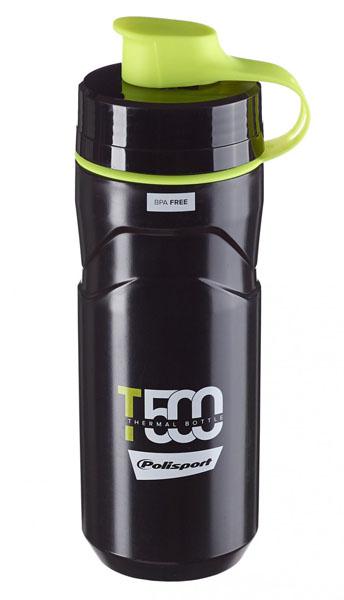 Termoláhev POLISPORT T500 0,5l/0,65l černo-zelená fluor