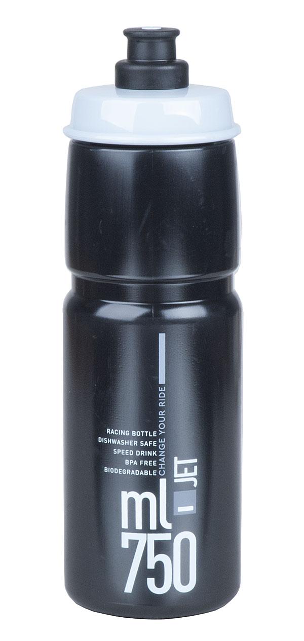 Láhev ELITE Jet 0,75l černá, šedé logo