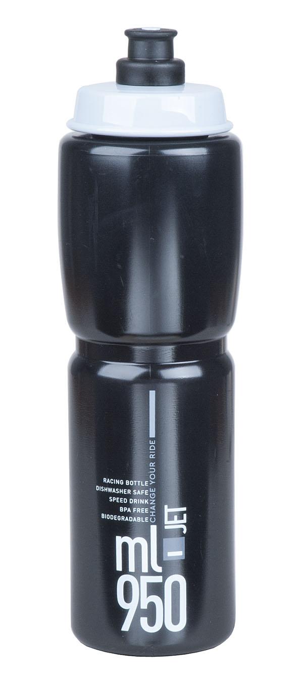 Láhev ELITE Jet 0,95l černá, šedé logo