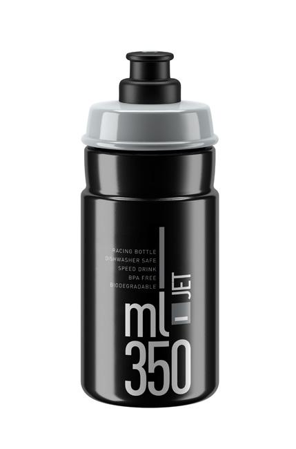 Láhev dětská ELITE Jet 0,35l černá, šedé logo