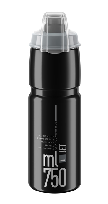 Láhev ELITE Jet Plus 0,75l černá, šedé logo
