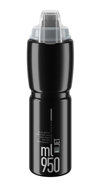 Láhev ELITE Jet Plus 0,95l černá, šedé logo