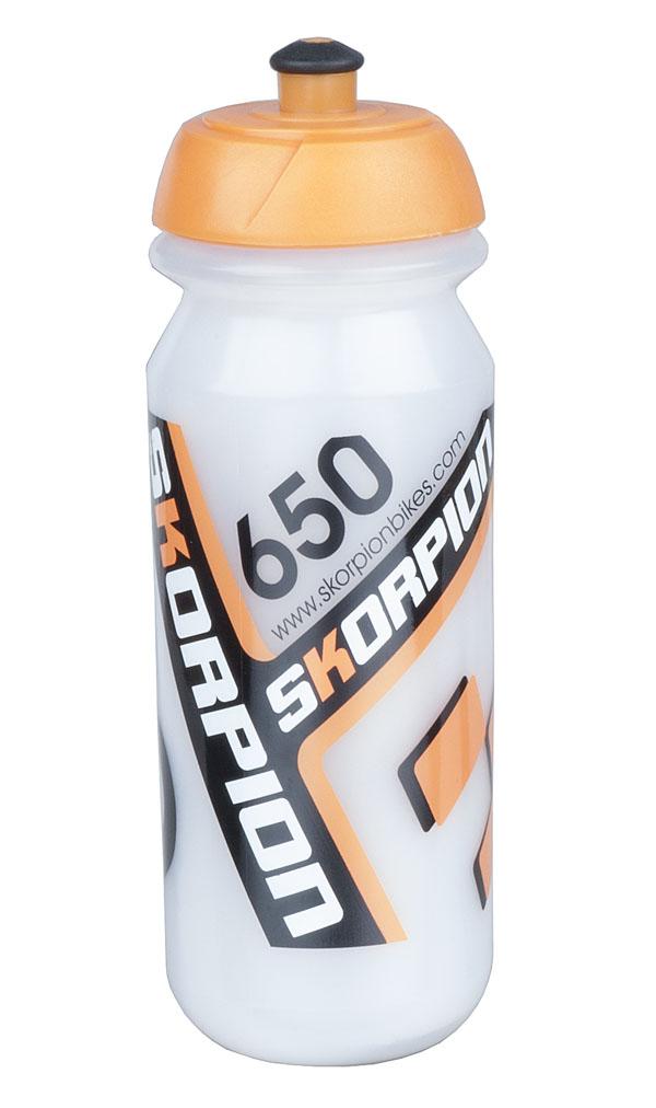 Láhev Skorpion 0,65l průhledno-oranžová