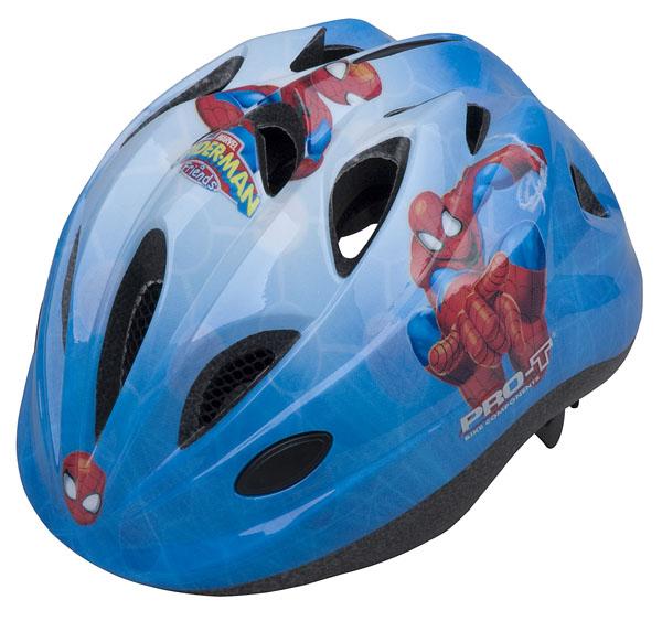 Přilba PRO-T Plus Toledo In mold dětská S 48-52 modrá, Spider man