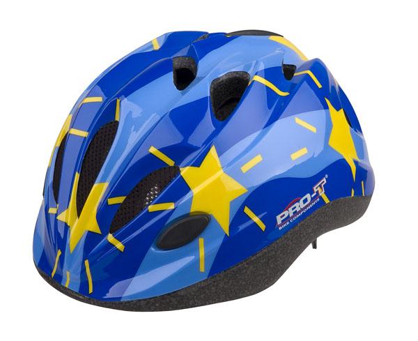 Přilba PRO-T Vigo dětská S 48-52 modro-sv.modrá, hvězdy