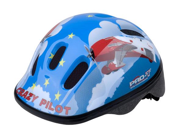 Přilba PRO-T Fafe dětská XS 44-48 modrá, Crazy pilot