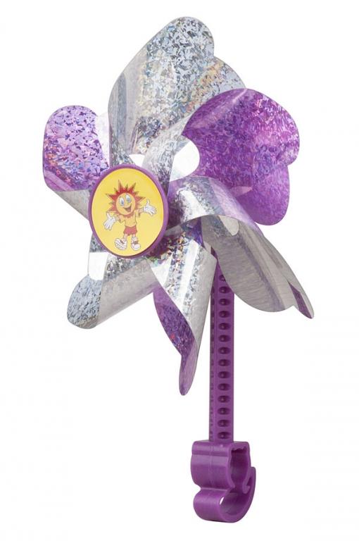 Větrník dětský PRO-T na řídítka bílo-fialová