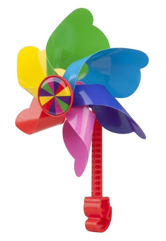 Větrník dětský PRO-T na řídítka duhová