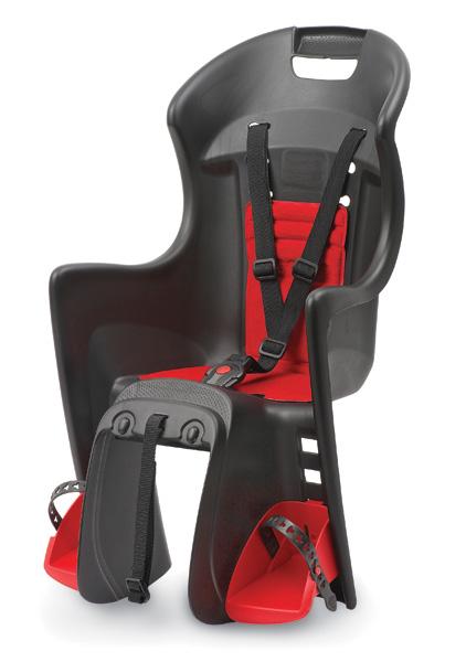 Dětská sedačka POLISPORT Boodie RMS na nosič černo-červená