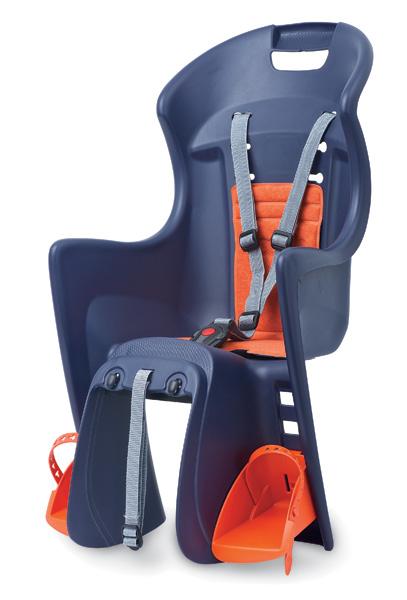 Dětská sedačka POLISPORT Boodie RMS na nosič modro-oranžová