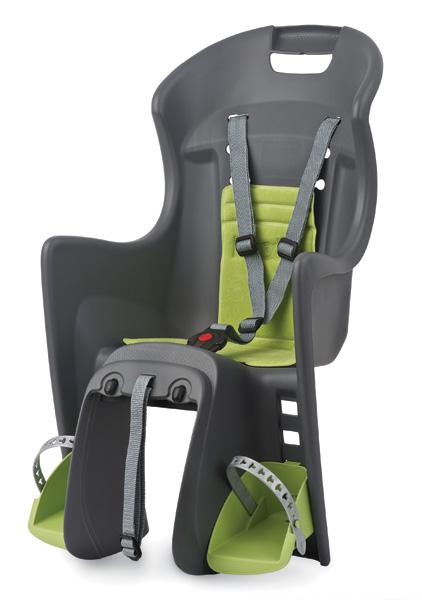 Dětská sedačka POLISPORT Boodie RMS na nosič šedo-zelená