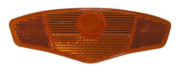 Odrazka do výpletu (2ks) oranžová