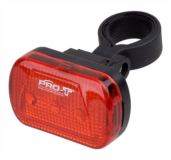 Světlo zadní PRO-T blikací 3 diody Cube