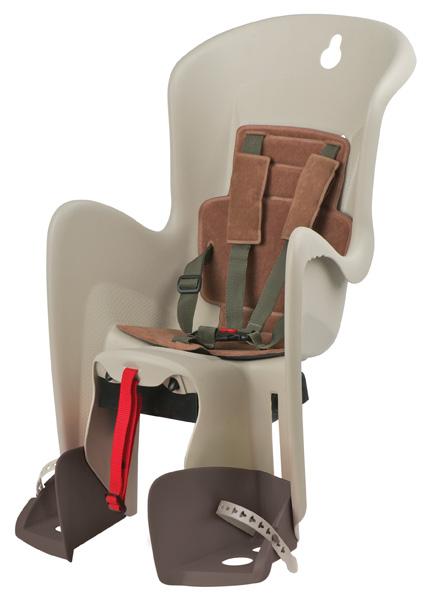 Dětská sedačka POLISPORT Bilby na nosič krémovo-hnědá