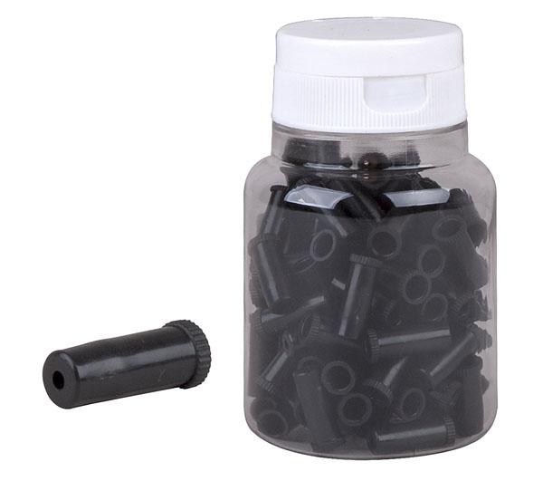 Koncovka bowdenu plast PRO-T AGR 5mm černá Sealed (láhev 100ks)