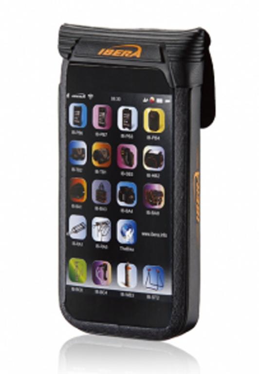 """Pouzdro pro Smartphone 4.5 - 5"""" Waterproof na představec IBERA IB-PB16 černá"""