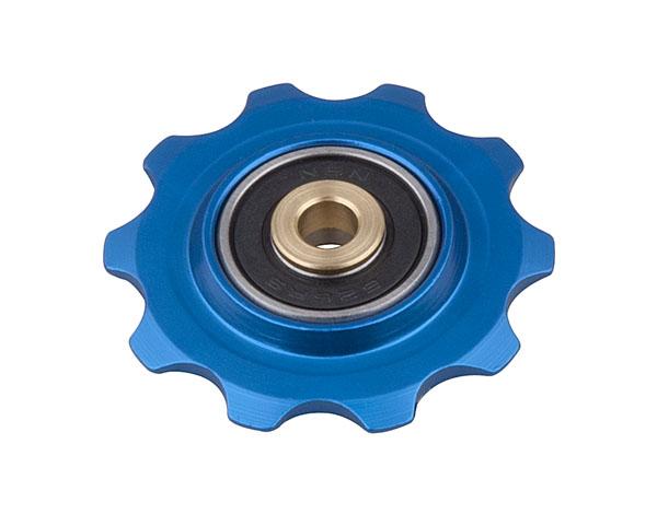 Kladka PRO-T Plus s průmyslovým ložiskem dural 10 zubů modrá