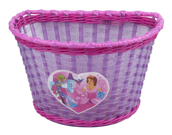 Dětský koš PRO-T na řídítka Girl fialovo-růžová