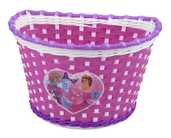 Dětský koš PRO-T na řídítka Girl růžovo-bílo-fialová