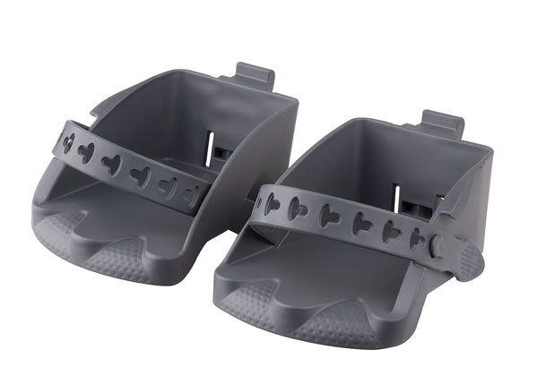 Náhradní stupačky sedačky POLISPORT Bilby Junior tmavě šedá