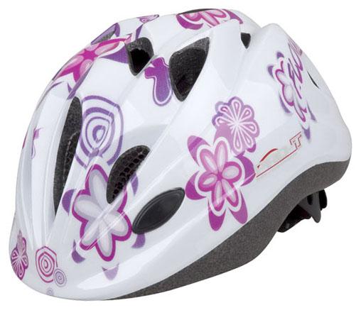 Přilba PRO-T Plus Toledo In mold dětská bílá, květy S 48-52