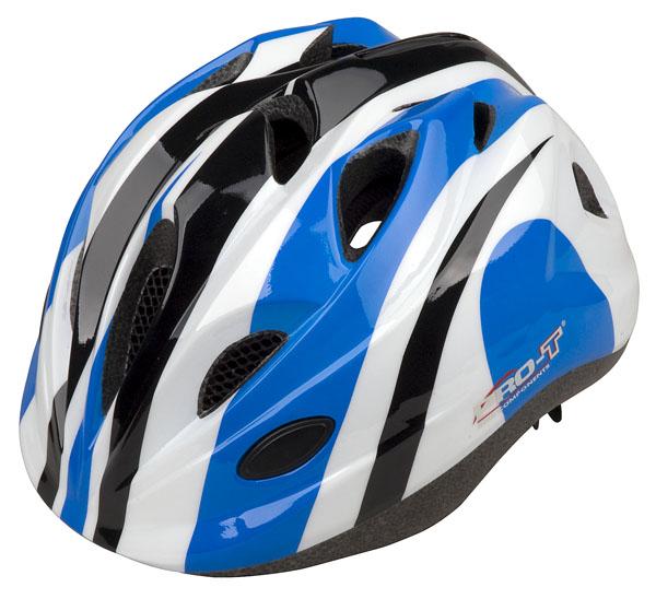 Přilba PRO-T Plus Toledo In mold dětská S 48-52 modro-bílá