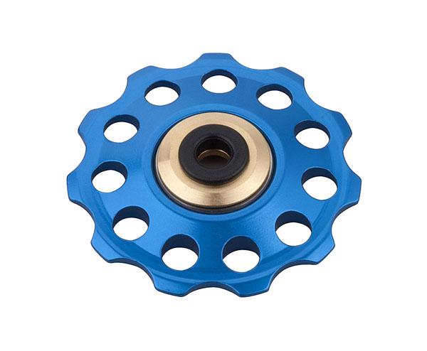 Kladka PRO-T Plus s průmyslovým ložiskem děrovaná dural 11 zubů modrá