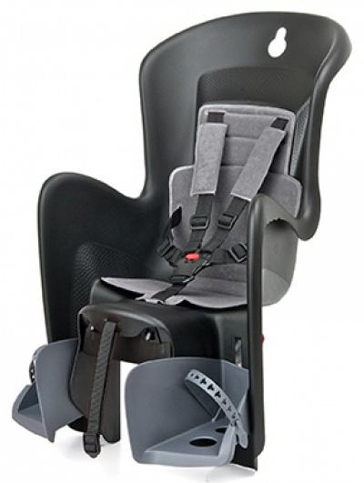 Dětská sedačka POLISPORT Bilby na nosič černo-šedá