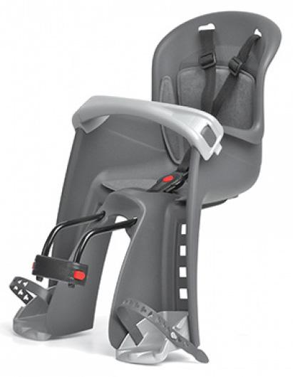 Dětská sedačka POLISPORT Bilby Junior přední (přední uchycení) šedo-stříbrná