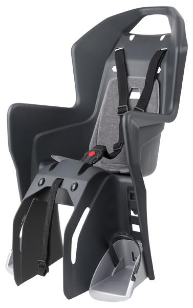 Dětská sedačka POLISPORT Koolah na nosič černo-šedá