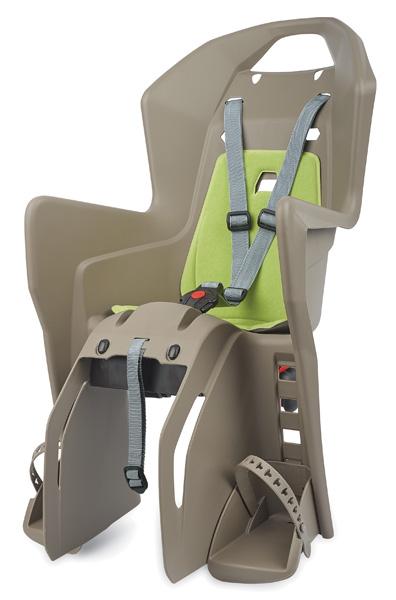 Dětská sedačka POLISPORT Koolah na nosič hnědo-zelená