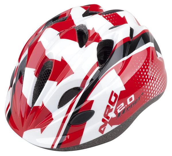 Přilba PRO-T Plus Toledo In mold dětská S 48-52 červeno-bílo-černá NRG