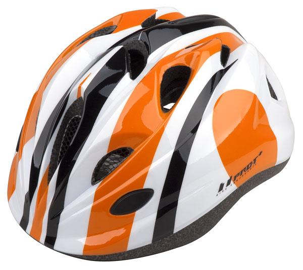 Přilba PRO-T Plus Toledo In mold dětská S 48-52 oranžovo-bílá