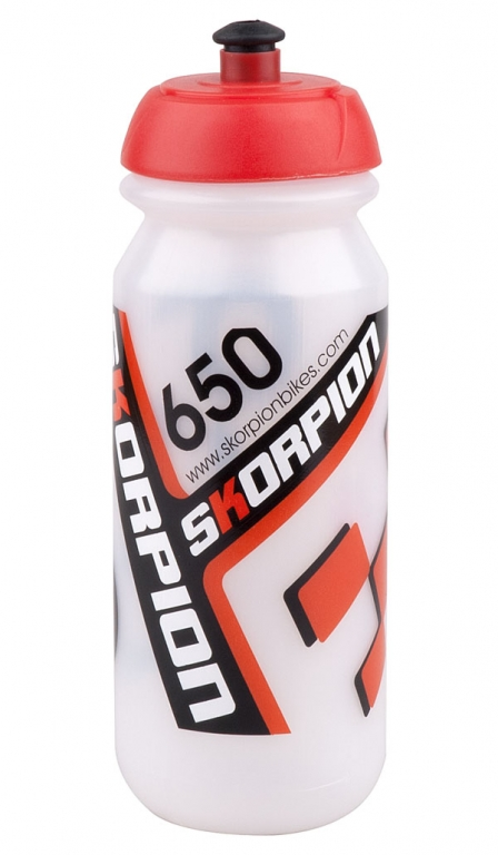 Láhev Skorpion 0,65l průhledno-červená