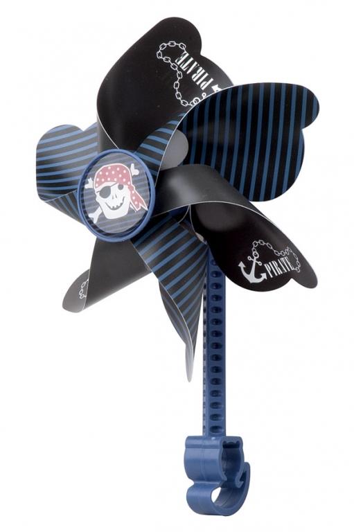 Větrník dětský PRO-T na řídítka modro-černá